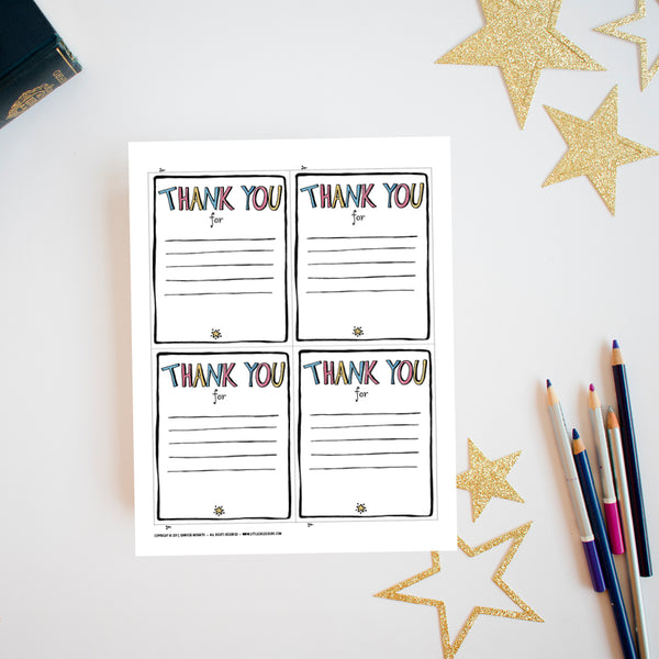 Thank You Printable {FREE}