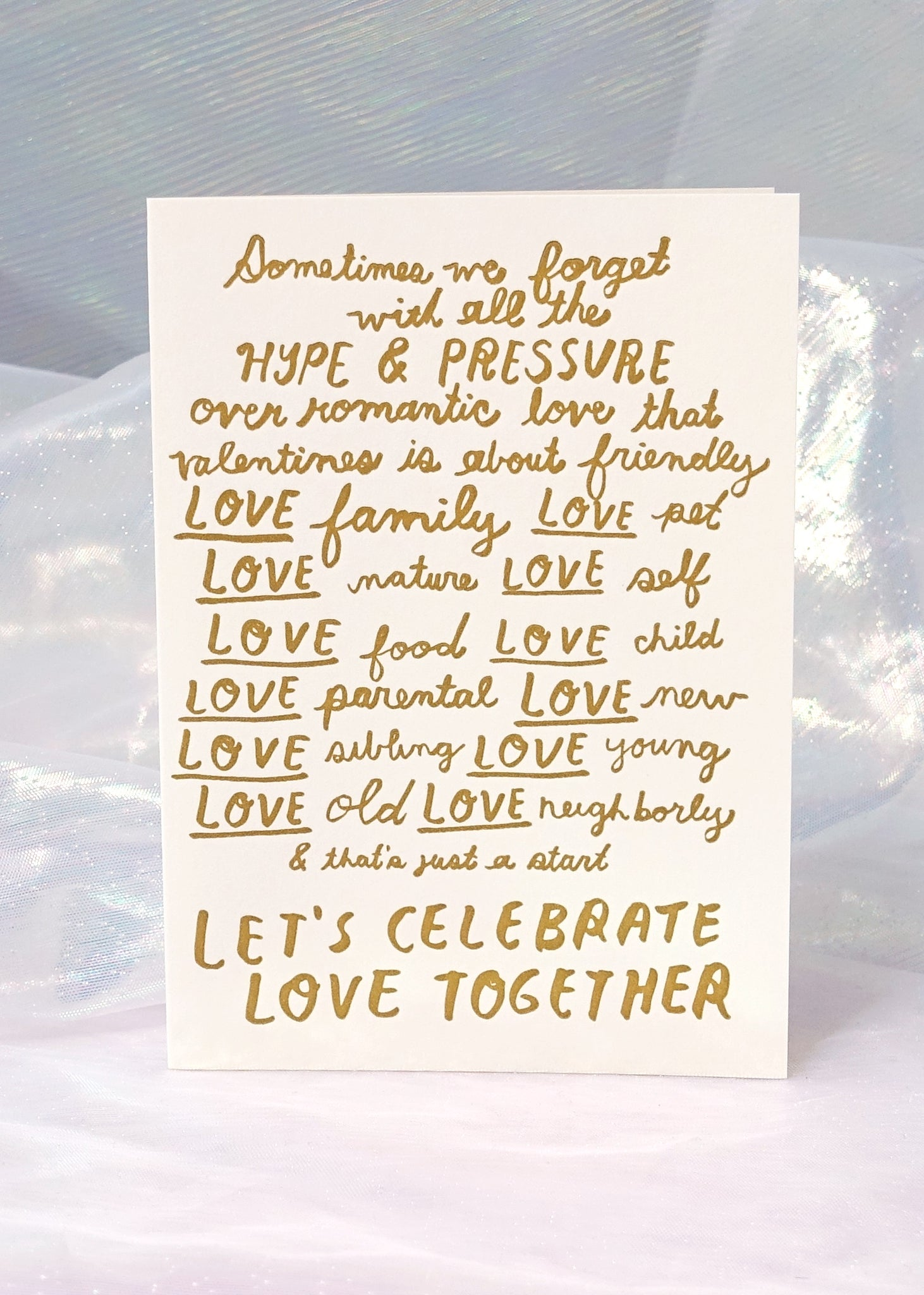 Let's Celebrate Love Card