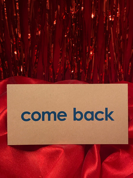 Come Back Postcard