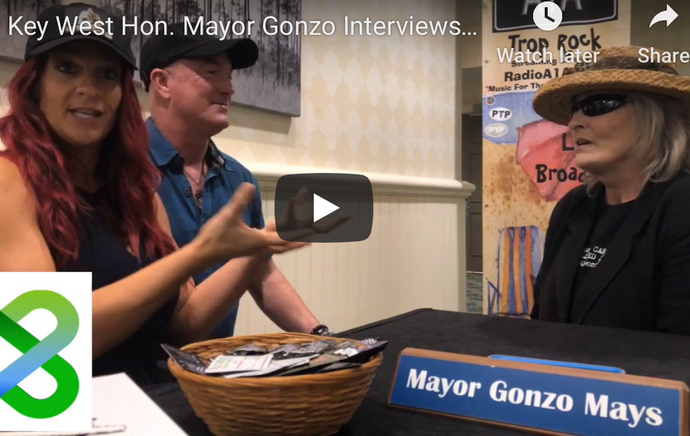 Key West Hon. Mayor Gonzo Mays Interviews Joy and Jason with Buddha Gear...