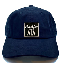"Load image into Gallery viewer, Buddha gear black dad hat Radio A1A Headwear, Key West Florida ""Music For The Road To Paradise""  Make sure to tune in when you're driving through the Keys! Even when your'e not, you can tune into their web radio at www.radioa1a.com"