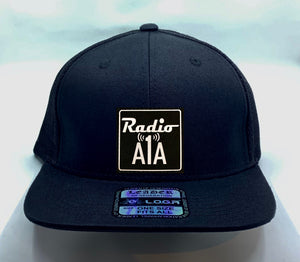 "Buddha gear black flat bill Radio A1A Headwear, Key West Florida ""Music For The Road To Paradise""  Make sure to tune in when you're driving through the Keys! Even when your'e not, you can tune into their web radio at www.radioa1a.com"