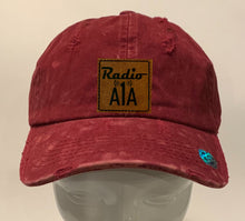 "Load image into Gallery viewer, Buddha gear burgundy hat Radio A1A Headwear, Key West Florida ""Music For The Road To Paradise""  Make sure to tune in when you're driving through the Keys! Even when your'e not, you can tune into their web radio at www.radioa1a.com"