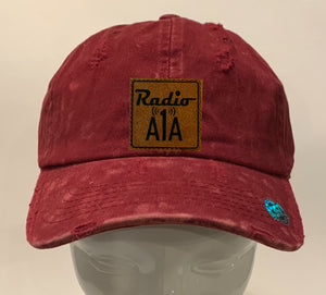 "Buddha gear burgundy hat Radio A1A Headwear, Key West Florida ""Music For The Road To Paradise""  Make sure to tune in when you're driving through the Keys! Even when your'e not, you can tune into their web radio at www.radioa1a.com"