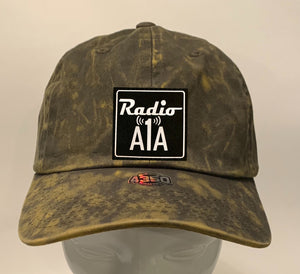 "Buddha gear olive dad hat Radio A1A Headwear, Key West Florida ""Music For The Road To Paradise""  Make sure to tune in when you're driving through the Keys! Even when your'e not, you can tune into their web radio at www.radioa1a.com"