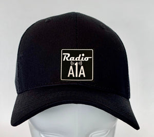 "Buddha gear black hat Radio A1A Headwear, Key West Florida ""Music For The Road To Paradise""  Make sure to tune in when you're driving through the Keys! Even when your'e not, you can tune into their web radio at www.radioa1a.com"