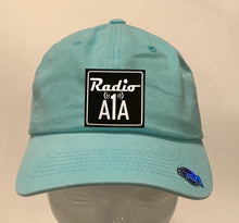 "Load image into Gallery viewer, Buddha gear aqua dad hat Radio A1A Headwear, Key West Florida ""Music For The Road To Paradise""  Make sure to tune in when you're driving through the Keys! Even when your'e not, you can tune into their web radio at www.radioa1a.com"