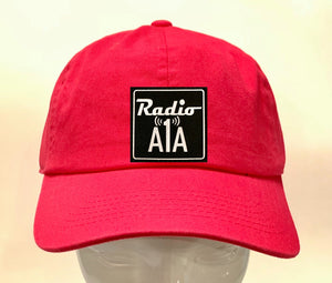 "Buddha Gear pink dad hat Radio A1A Headwear, Key West Florida ""Music For The Road To Paradise""  Make sure to tune in when you're driving through the Keys! Even when your'e not, you can tune into their web radio at www.radioa1a.com"