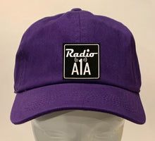 "Load image into Gallery viewer, Buddha Gear purple dad hat Radio A1A Headwear, Key West Florida ""Music For The Road To Paradise""  Make sure to tune in when you're driving through the Keys! Even when your'e not, you can tune into their web radio at www.radioa1a.com"