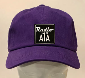 "Buddha Gear purple dad hat Radio A1A Headwear, Key West Florida ""Music For The Road To Paradise""  Make sure to tune in when you're driving through the Keys! Even when your'e not, you can tune into their web radio at www.radioa1a.com"