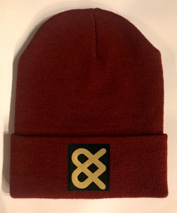 Burgundy Skater  Beanie hat by Buddha Gear and Kula Brands