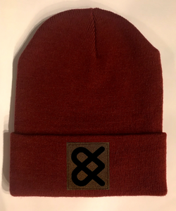 Burgundy Yoga  Beanie hat by Buddha Gear and Kula Brands