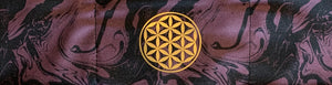 Headband with Gold Om, Flower of Life, Lotus, Ganesha over your third eye for better yoga, meditation and sleep Yoga Clothing Buddha Wear
