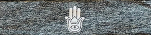 Hamsa hand yoga meditation headband by buddha gear for yoga meditation an sleep with a crystal over your third eye