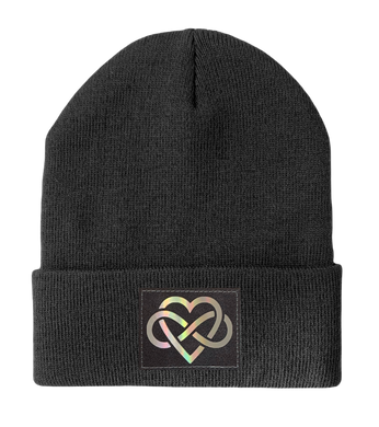 Grey Beanie with Infinite Love yoga hat by Buddha Gear