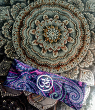 Load image into Gallery viewer, Custom Hippie Ohm Buddha Band on Cosmo Paiasly Fabric
