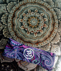 Custom Hippie Ohm Buddha Band on Cosmo Paiasly Fabric