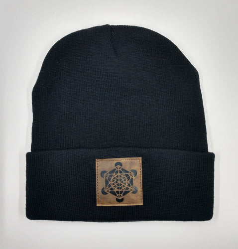 beanie, black with Metatron's cube over your third eye