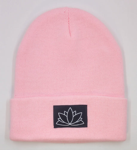 Buddha Beanie with a Lotus over your Third Eye   The lotus has long been regarded as sacred by many of the world's religions, especially in India and Egypt, where it is held to be a symbol of the Universe itself. Rooted in the mud, the lotus rises to blossom clean and bright, symbolizing purity and resurrection