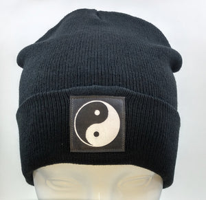 Black Beanie with yin yang over your third eye by Buddha Gear