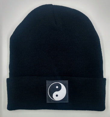 Beanie with black yin yang over your third eye by Buddha Gear