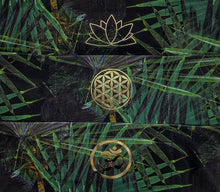 Load image into Gallery viewer, Maui Green Tropical Buddha Band with Lotus symbol