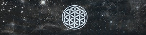 Headband - Black Cosmo Buddha band with Flower of Life by buddha gear