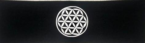 Black Buddha Band w Flower of Life symbol over your third eye