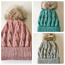Load image into Gallery viewer, Buddha Gear Plush Beanies pom pom blanked lined beanie hat