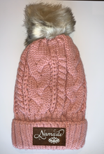 Load image into Gallery viewer, Meditation Buddha Gear Plush Purple, Blanket Lined Cable Knit, Pom Pom Beanie with Unicorn, Om, Phoenix, Namaste, Lotus, Tree of Life, Moons, Infinite Heart or Cristian Fish/ichthus, Buddha and more...   gifts for him, and also kids beanies and baby beanies... Great for Yoga, meditation, mindfulness and our headbands hold a crystal over your third eye! Buddha Wear