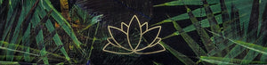 Maui Green Tropical Buddha Band with Lotus symbol