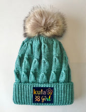 Load image into Gallery viewer, Teal Pom Pom Beanies by Buddha Gear and Kula Brands