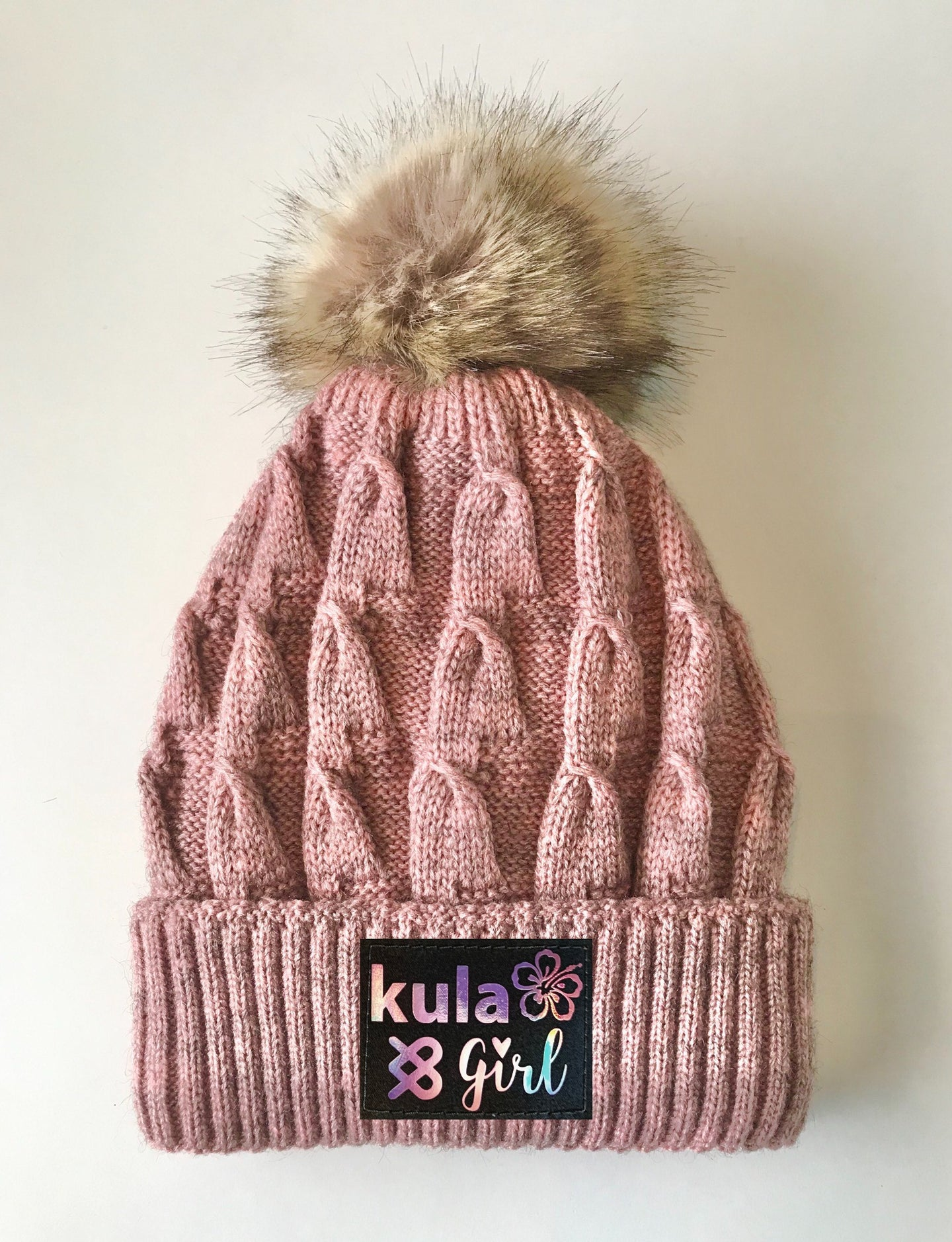 Pink Pom Pom Beanies by Buddha Gear and Kula Brands