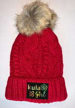 Load image into Gallery viewer, Red Plush Pom Pom Beanies by Buddha Gear and Kula Brands
