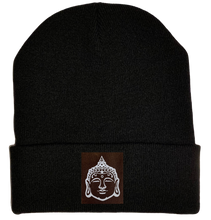Load image into Gallery viewer, Beanie - Black, cuffed Beanie with buddha gear