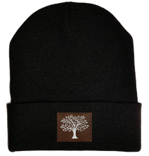 Load image into Gallery viewer, Beanie - Black, cuffed Beanie with tree of life kabala buddha gear