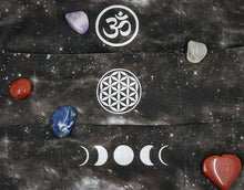 Load image into Gallery viewer, Black Cosmo Buddha band with Moon phase