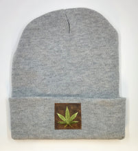 "Load image into Gallery viewer, Buddha Beanie with the ""maple leaf"" over your third eye  Cannabis - What can we say? It's making a major comeback in the health and healing industry, helping many people wean from their meds and get back their zest for life!  And it's taking the medical industry by storm!"