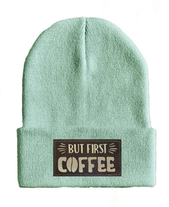 coffee yoga Beanie hat by Buddha Gear