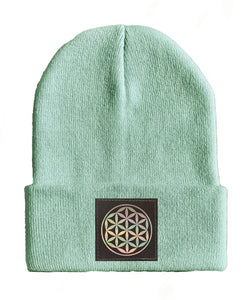 Flower of life yoga Beanie hat by Buddha Gear