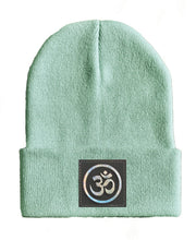 Load image into Gallery viewer, om yoga Beanie hat by Buddha Gear kundalini hat