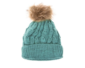 Teal Buddha Gear Plush Beanies pom pom blanked lined beanie hat
