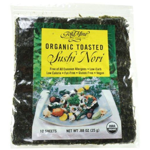 GOLD MINE Organic Toasted (10 Sheets) Sushi Nori 25g - Welcome Organics