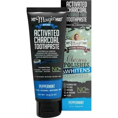MY MAGIC MUD Peppermint Whitening Toothpaste 113g - Welcome Organics