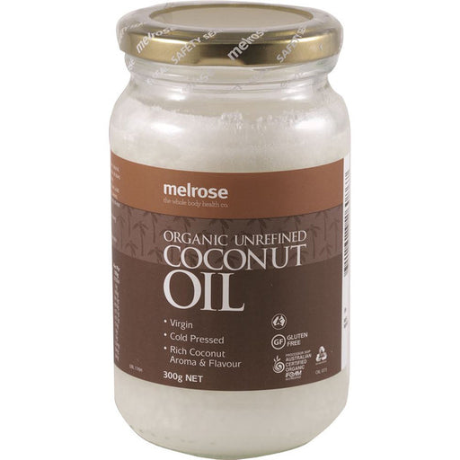 MELROSE Organic Coconut Oil Unrefined 300g-MELROSE-Welcome-organics