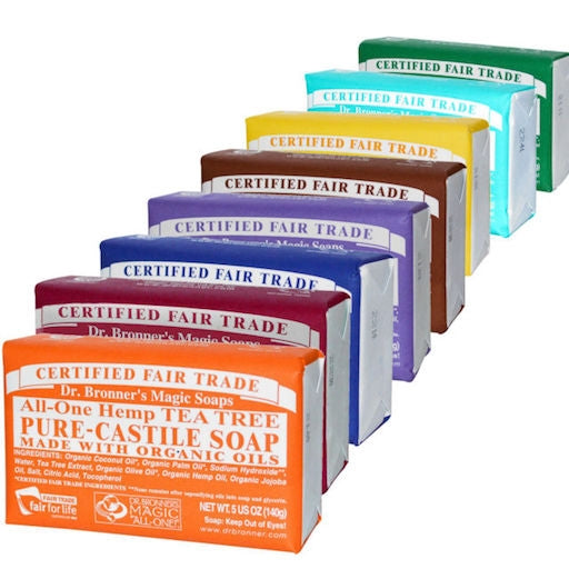 DR BRONNERS Pure Castile Soap Bar 140g-DR BRONNERS-Welcome-organics