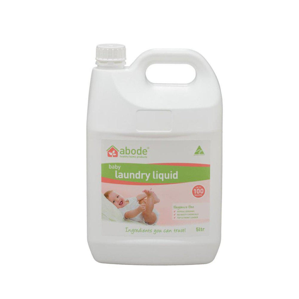 ABODE Laundry Liquid (Front & Top Loader) Baby Fragrance Free 5L - Welcome Organics
