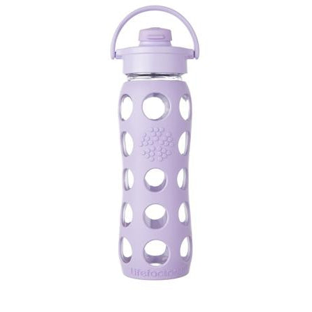 LIFEFACTORY Glass 650ML Drink Bottle with Flip Lid - Welcome Organics