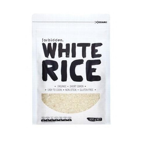 FORBIDDEN White Rice Short Grain 500g - Welcome Organics