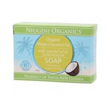 NIUGINI ORGANICS Lemongrass Coconut Oil Soap 100g - Welcome Organics